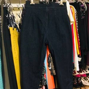 Vixen by Micheline Pitt denim cigarette pants